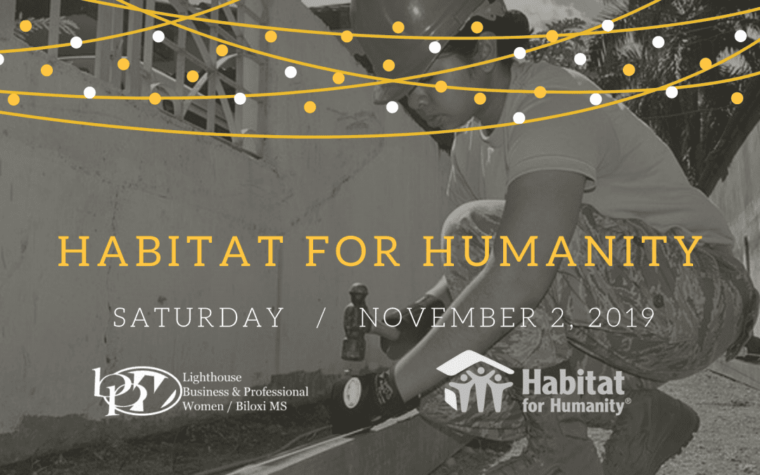 Habitat for Humanity Help November 2nd